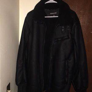 Michael Kors Faux Leather Jacket, Men's XL